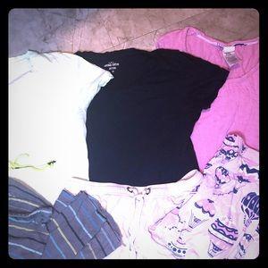 3 pairs women's pajama sets size XS